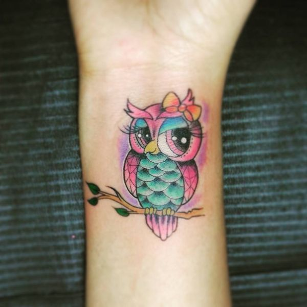 51 Owl Tattoos Ideas Best Designs With Meaning Flowertattooideas Owl Tattoo Design Cute Owl Tattoo Colorful Owl Tattoo