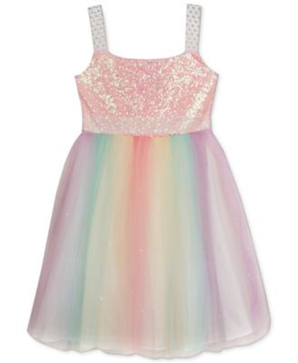 aa12f6a78 Rare Editions Girls' Sequin-Top Rainbow Dress Toddler Unicorn Costume, Toddler  Costumes,