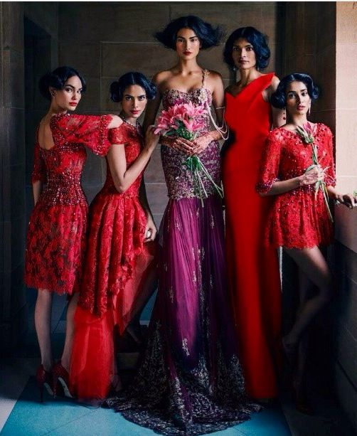 Vouge india- prom-night dress-wedding -henna night-evening -bride-abiye-gece elbisesi-soz-nisan-dugun-kina gecesi-red-purple -kirmizi -hint isi-hindistan-