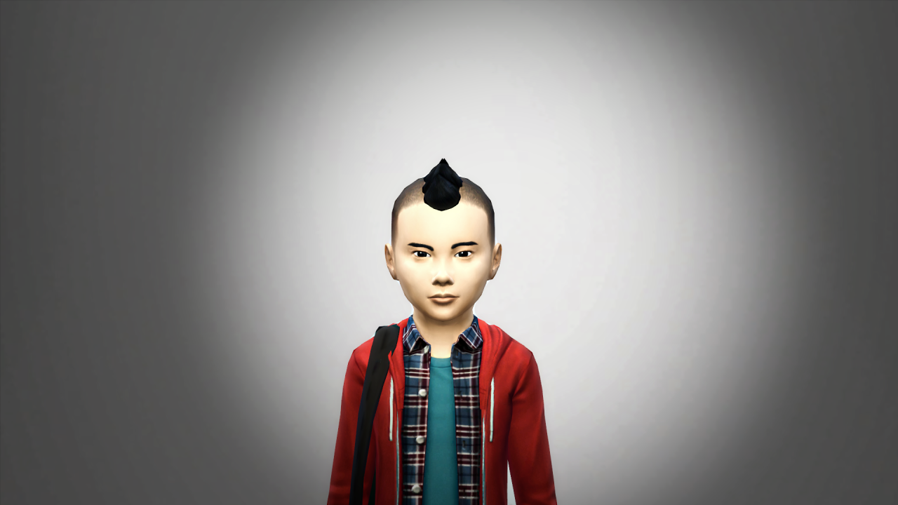 Child Mohawk With Shaved Sides by Aimediikill.