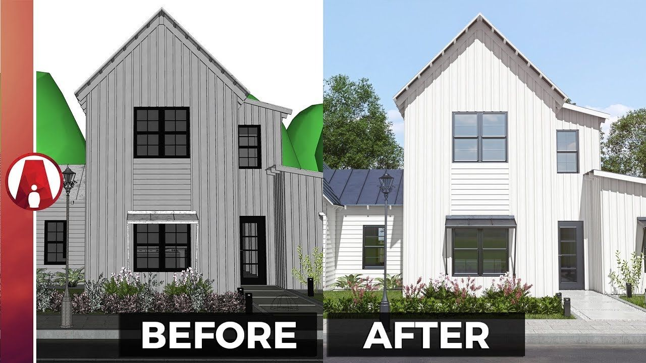 10 Tips For A Realistic Exterior Rendering Vray For Sketchup