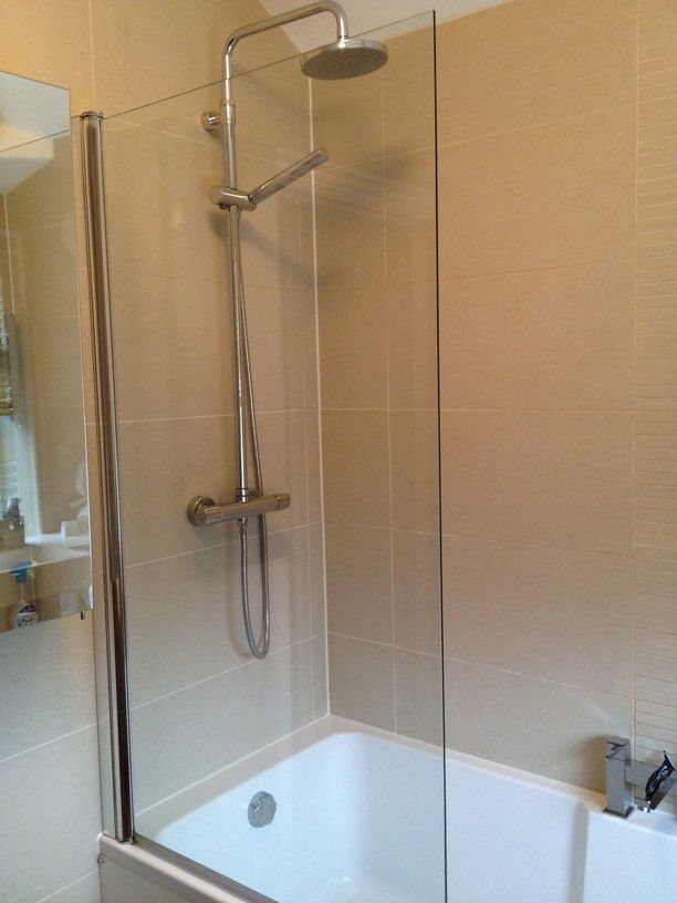 Shower Over Bath Small Bathrooms Square Screen Door Panel Hinged Reversible Safety