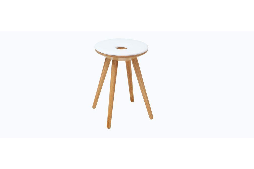 prix compétitif 84eea 4d618 Tabourets design en bois naturel et blanc - IXINA | Chaise ...