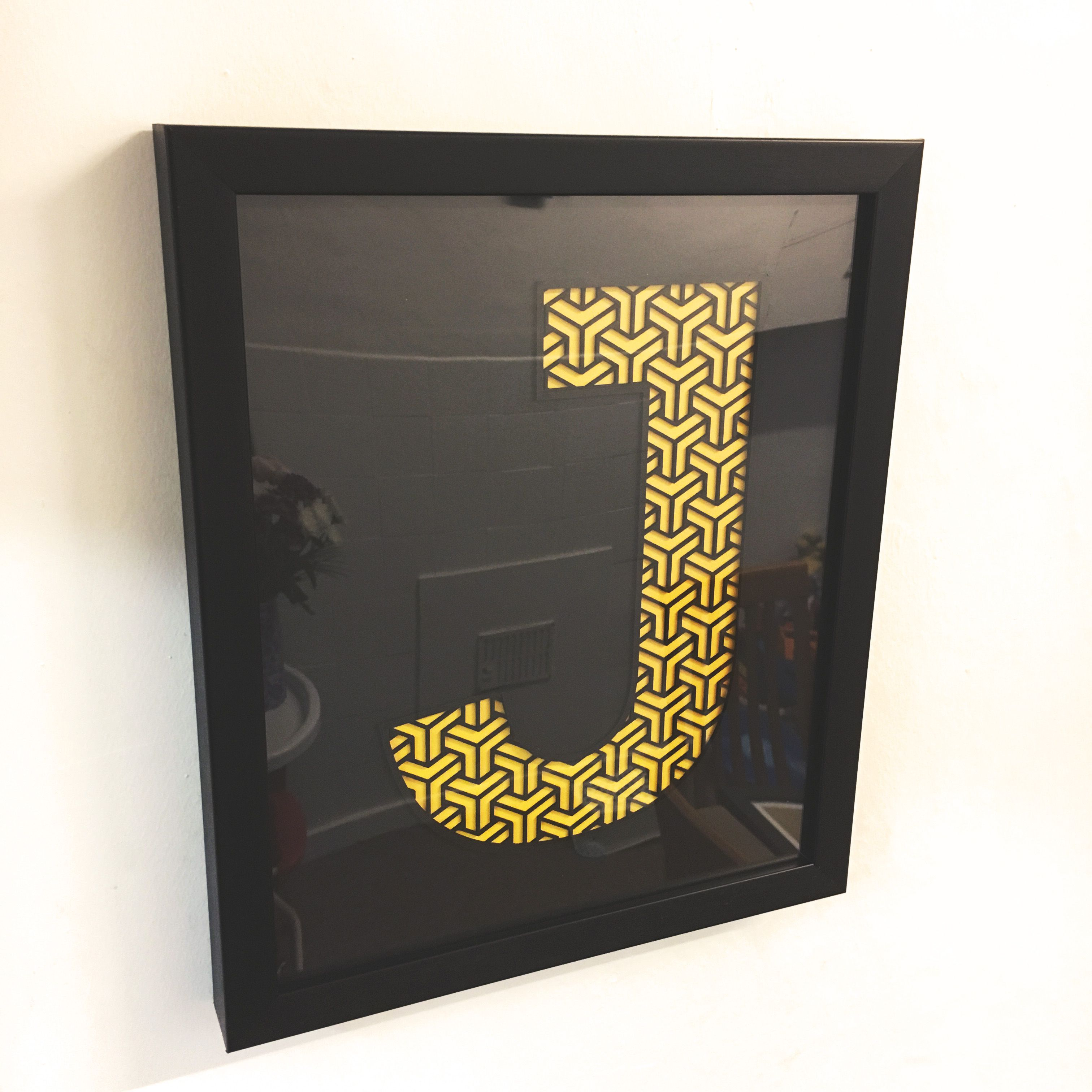 a framed piece with