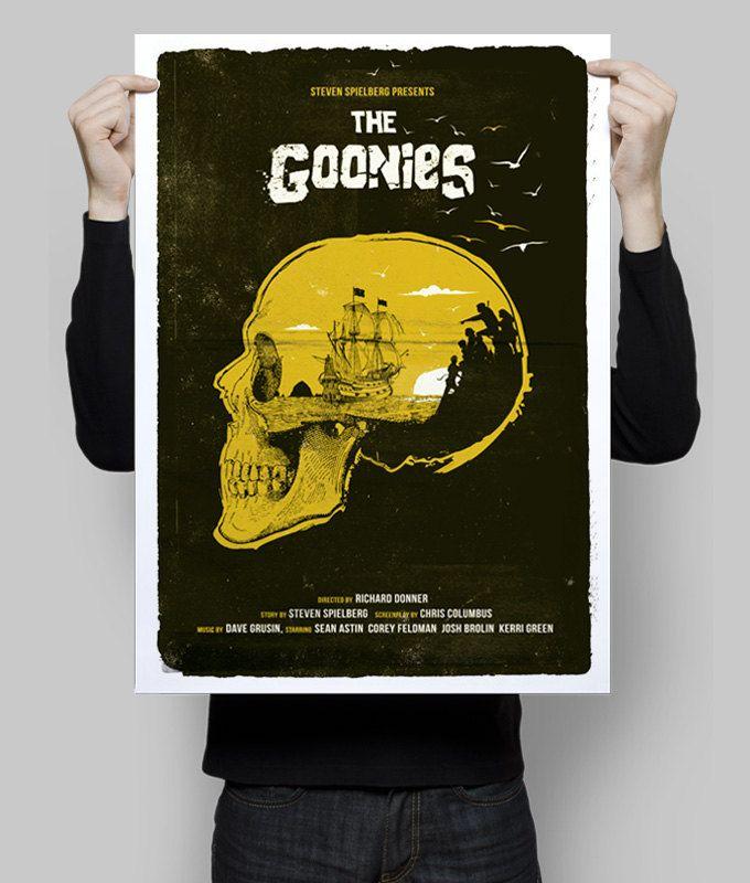 Alternative The Goonies poster film print skull never say die movie ...