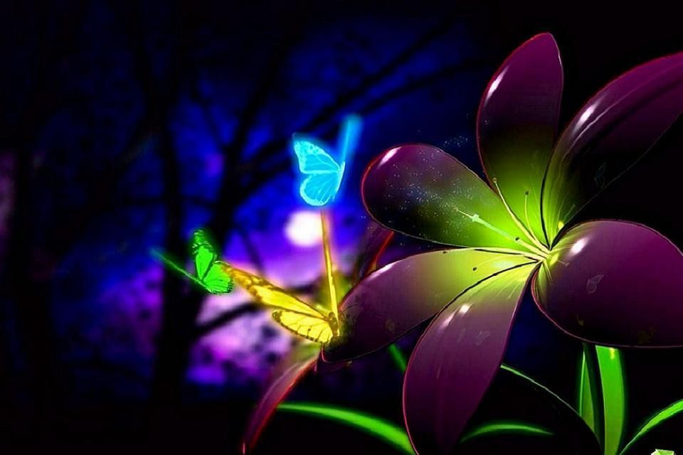 Download Free Images 3d Moving Wallpapers For Mobile Neon Wallpaper Butterfly Wallpaper 3d Animation Wallpaper