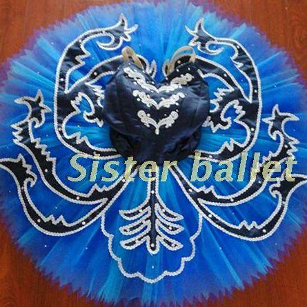 US $479.0  Blue Bird Professional Ballet Tutus Swan Lake Variation Ballet Tutu Skirt Adult Classical Ballet Costume For Women Custom Made Ballet Novelty & Special Use - AliExpress