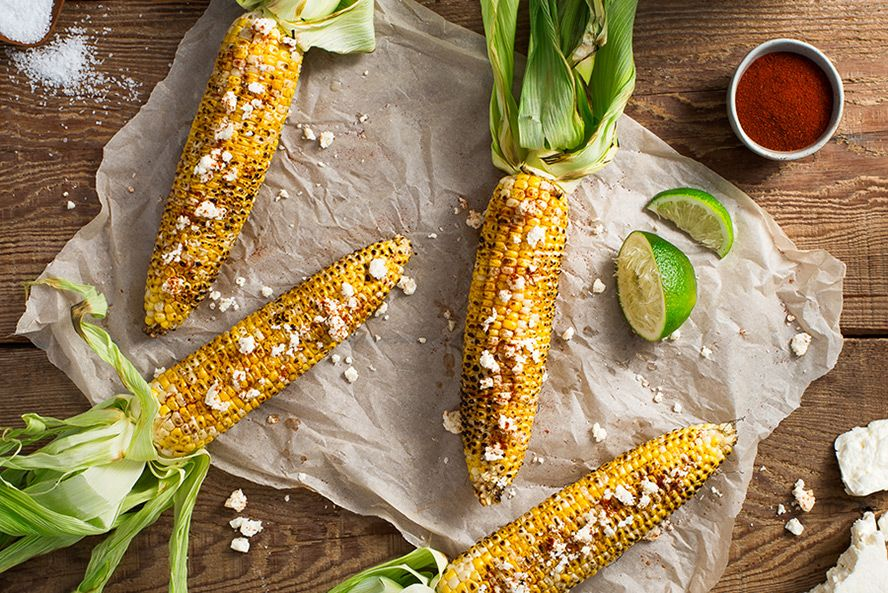 Grilled Corn In The Husk With Cotija Cheese Lime Food Network Recipes Grilled Appetizers Food