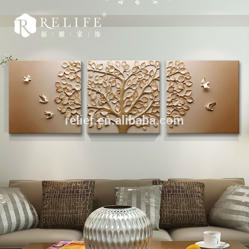 Superbe Resin Relief Art Flower Relief Painting Frame Canvas For Print Wall Art