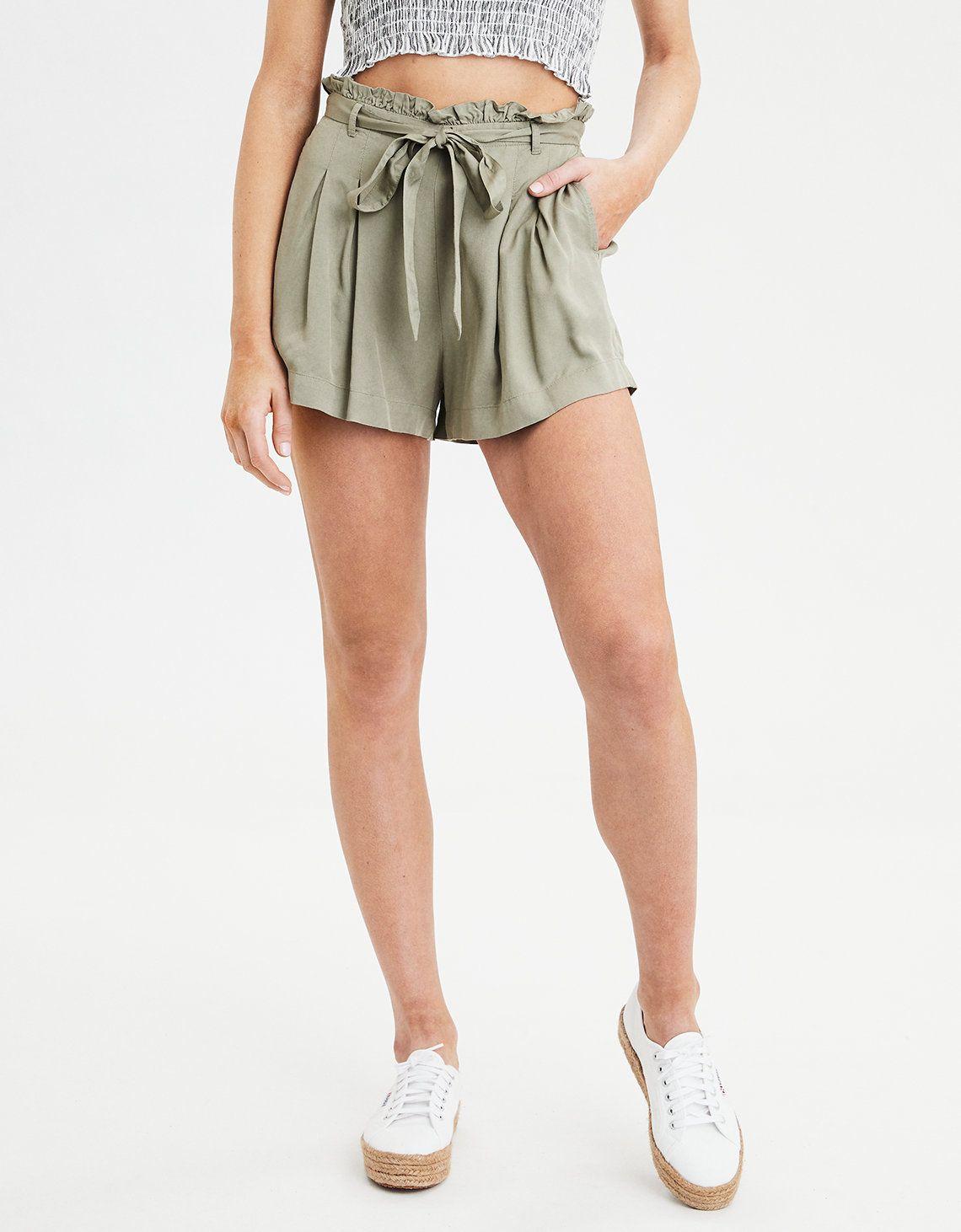 a0e942e715 AE Plaid Paperbag Short in 2019 | AE | Gym shorts womens, American ...