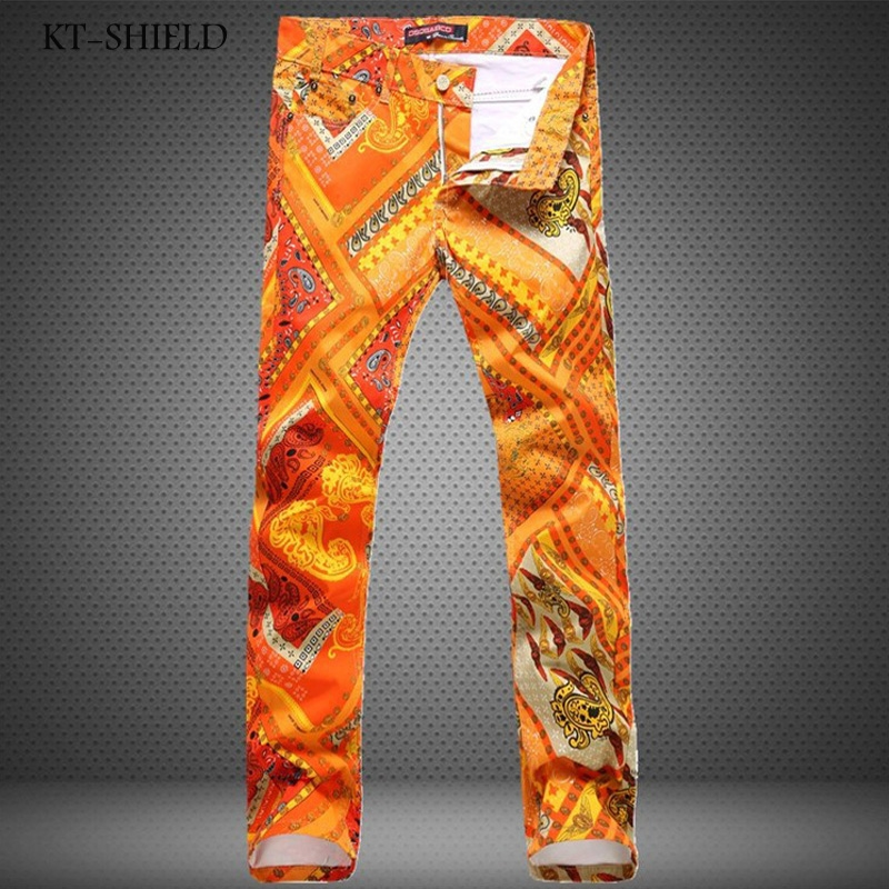 24.74$  Watch here - http://alixqe.shopchina.info/1/go.php?t=32716895560 - 3D Printed jeans for Men biker Fashion brand clothing Skinny Denim pencil full length Colorful Hombre Vaqueros Casual trousers  #buyonline
