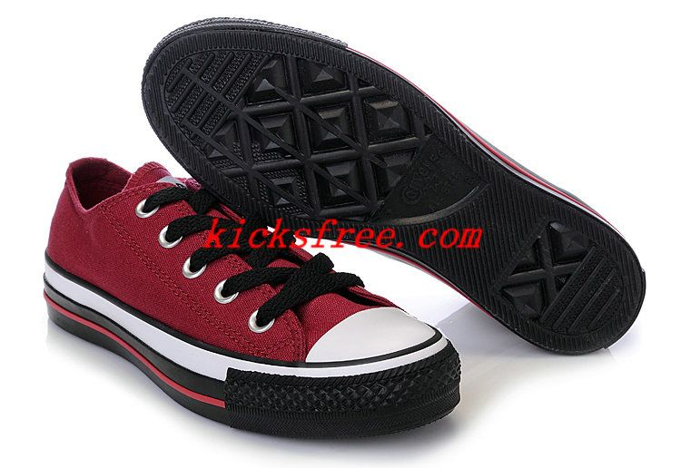 womens Converse All Star shoes wine red