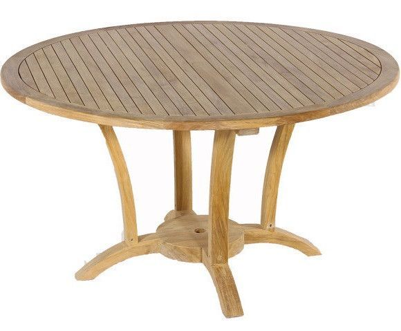Teak Deluxe Round Table 60 Quot Table Indoor Outdoor