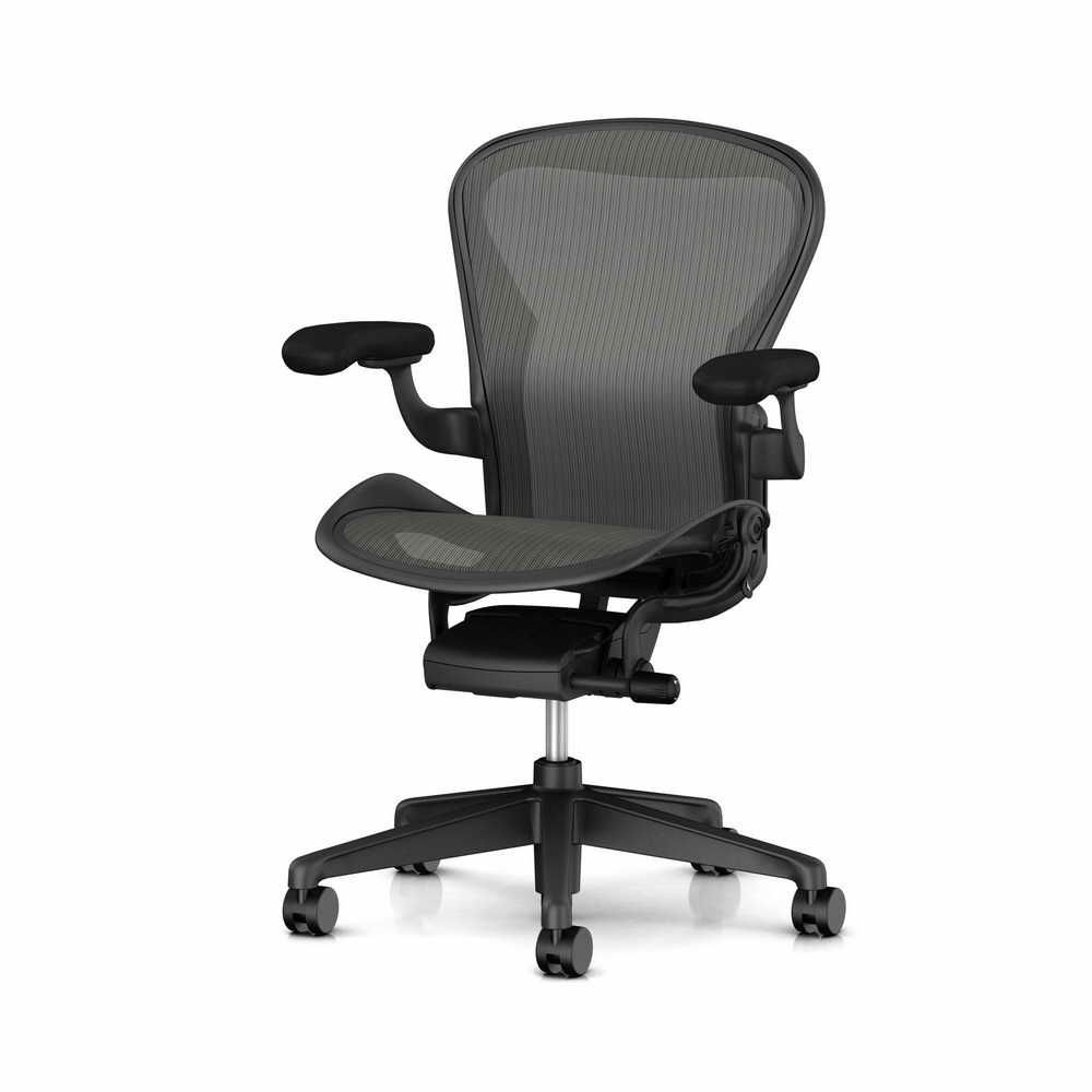 Herman miller aeron basic chair with graphite frame medium b