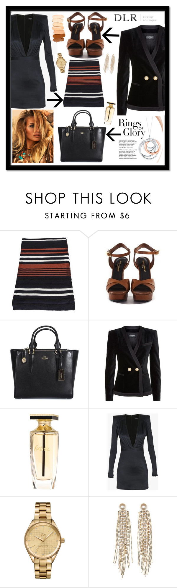 """""""DLR Boutique"""" by gaby-mil ❤ liked on Polyvore featuring Sonia Rykiel, Coach, Balmain, Tiffany & Co., Lacoste, Charlotte Russe and dlr"""