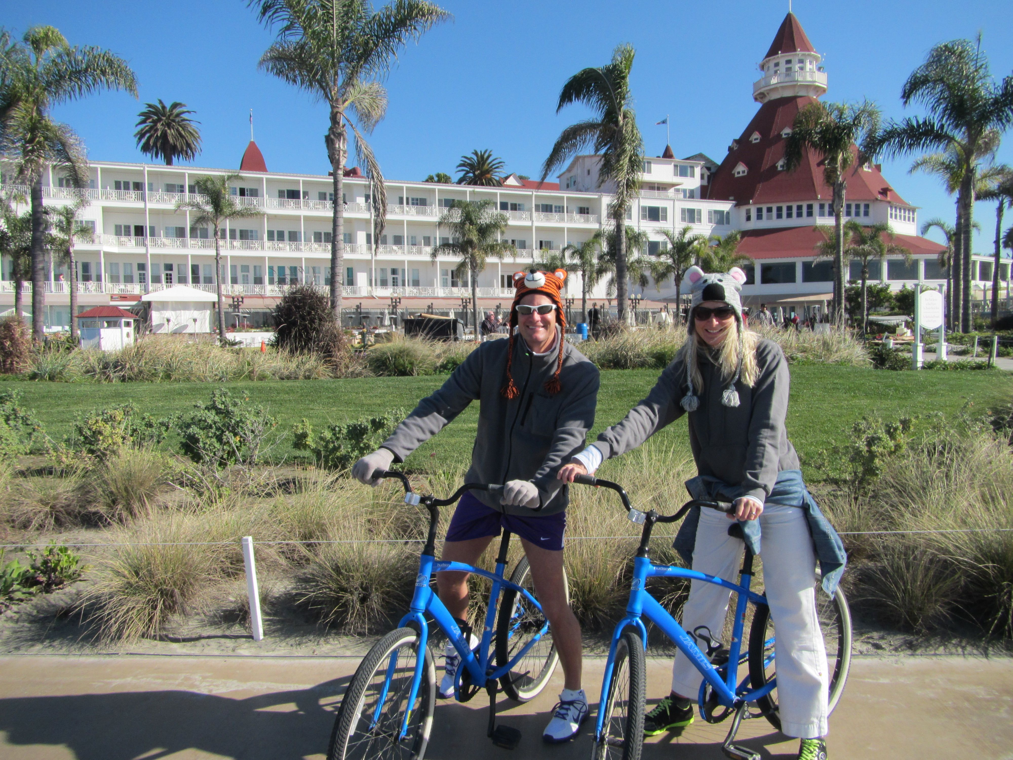 Bicycle tour of Del Coronado Hotel, San Diego with Sean & Cassandra Rox: https://www.roxbeachweddings.com/san-diego/