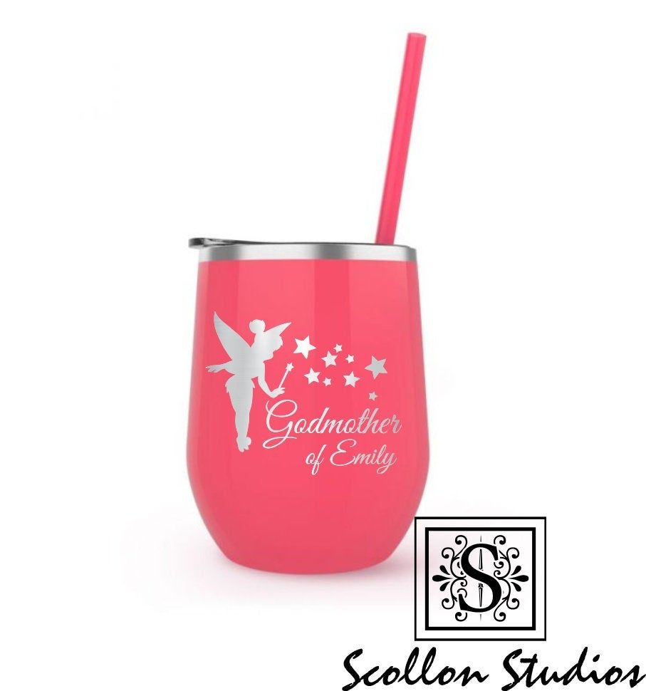 Personalized Godmother Gift Wine Tumbler Will You Be My Etsy In 2020 Godmother Gifts Personalized Godmother Gifts God Parents