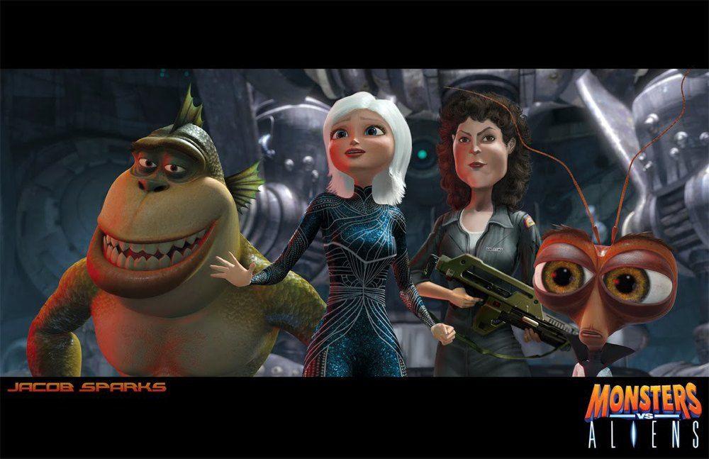 Ripley Joins The Cast Of Monster Vs Aliens Monsters Vs Aliens Alien Monster