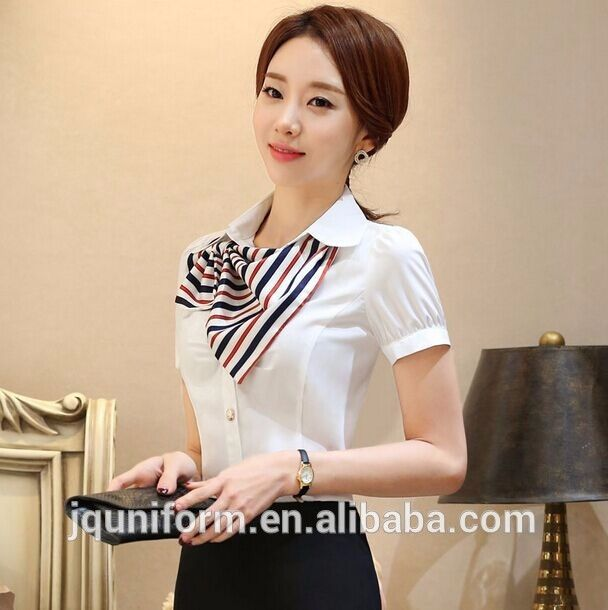 Custom cheap fashionable newly-style design white cotton formal office suits…