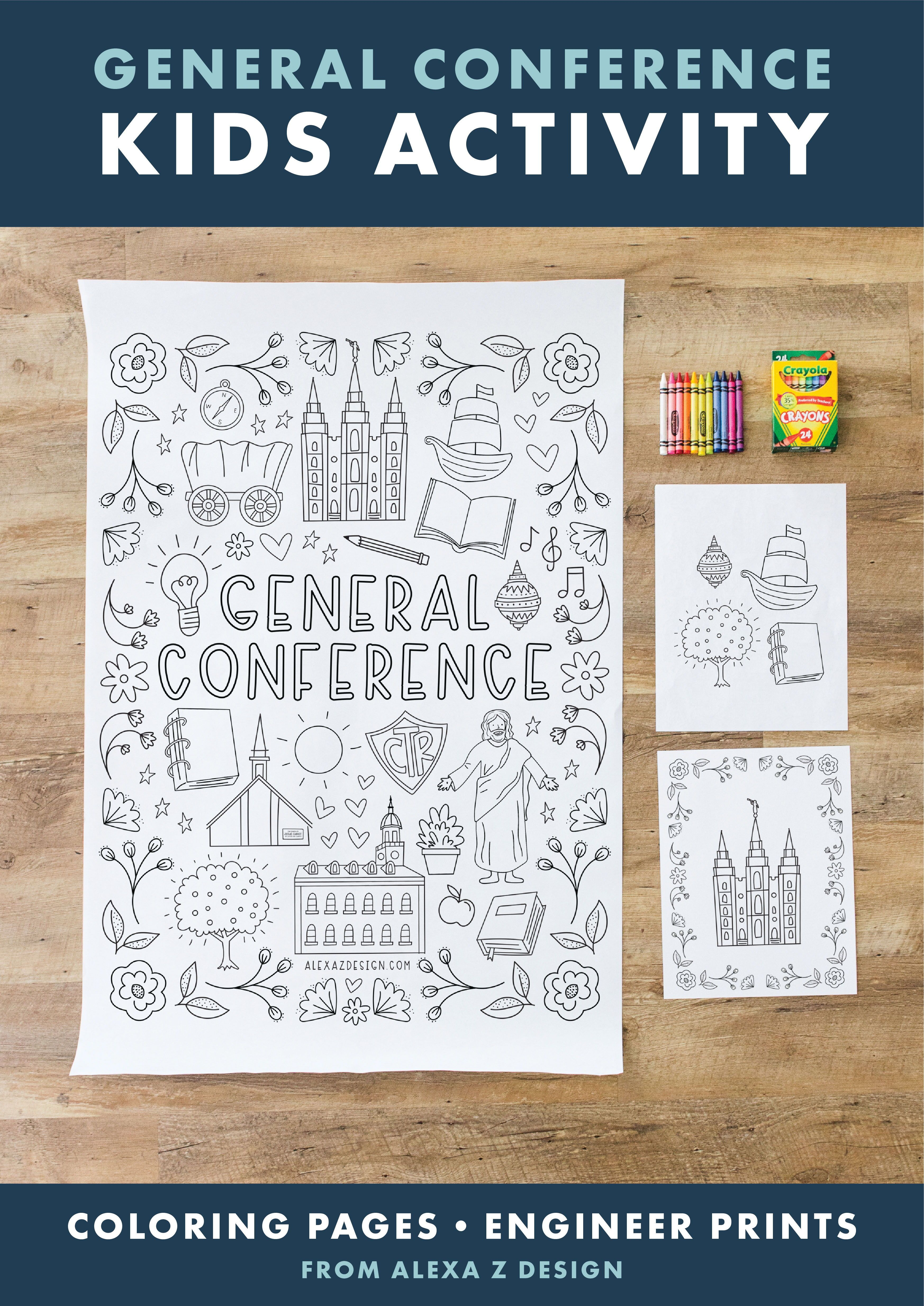 2020 General Conference Coloring Page Printables And Engineer Print In 2020
