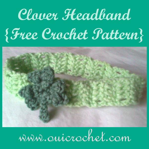 Crochet, Crochet Headband, Free Crochet Pattern, Crochet Clover ...