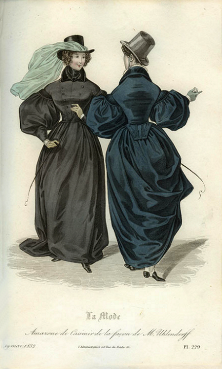 35b2e063c88 Lady s fashions of the 1830s were certainly among the least aerodynamic in  all the history of human dress  ladies stuck out all over. Sk..