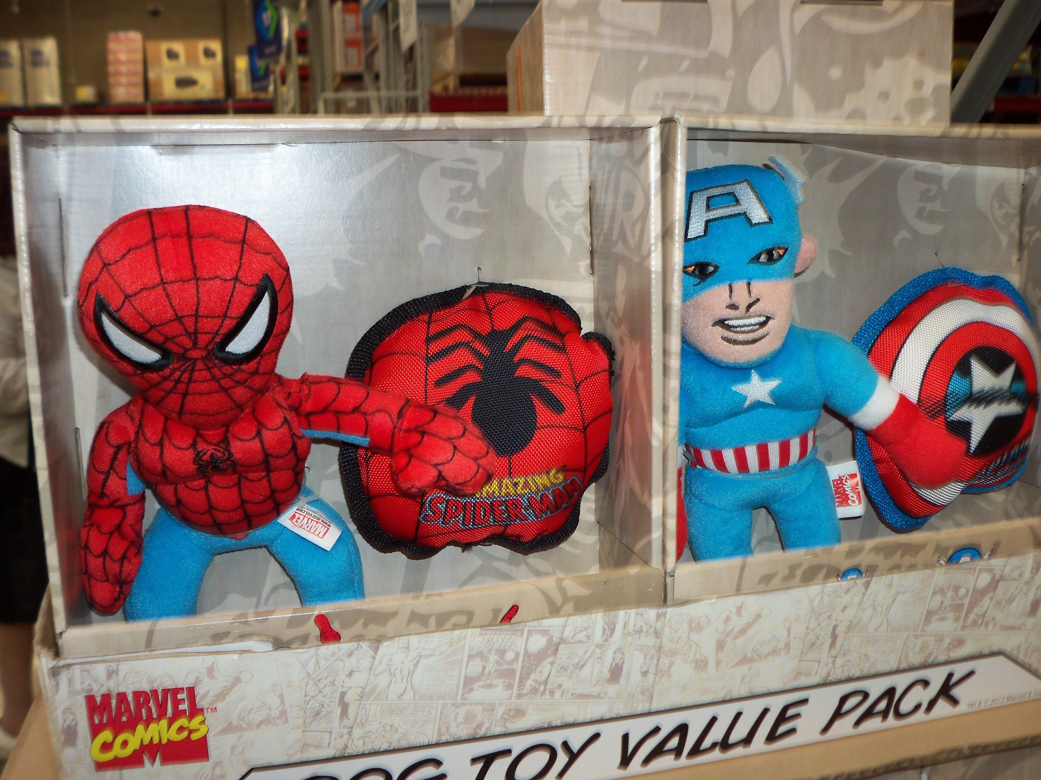 Spider Man Captain America Dog Toys More For The Owner Than The