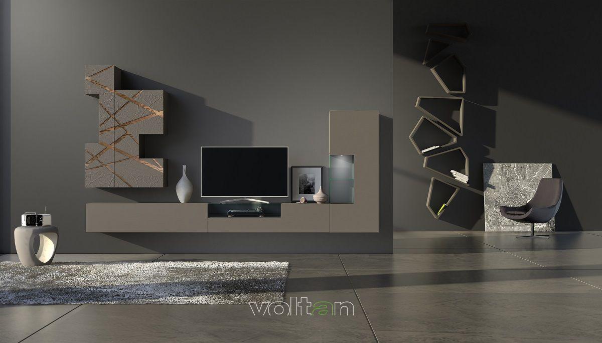 Le pareti attrezzate e le soluzioni giorno componibili sono impiallacciate in vero legno o laccate in. Sistemi Giorno Moderni Design Arredamento Arredamento Moderno Soggiorno Parete Tv Moderna