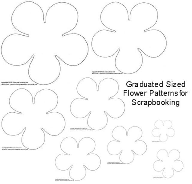 Diy torn paper flower embellishments for scrapbooking flower patterns scrapbooking and flower for Paper flower template free