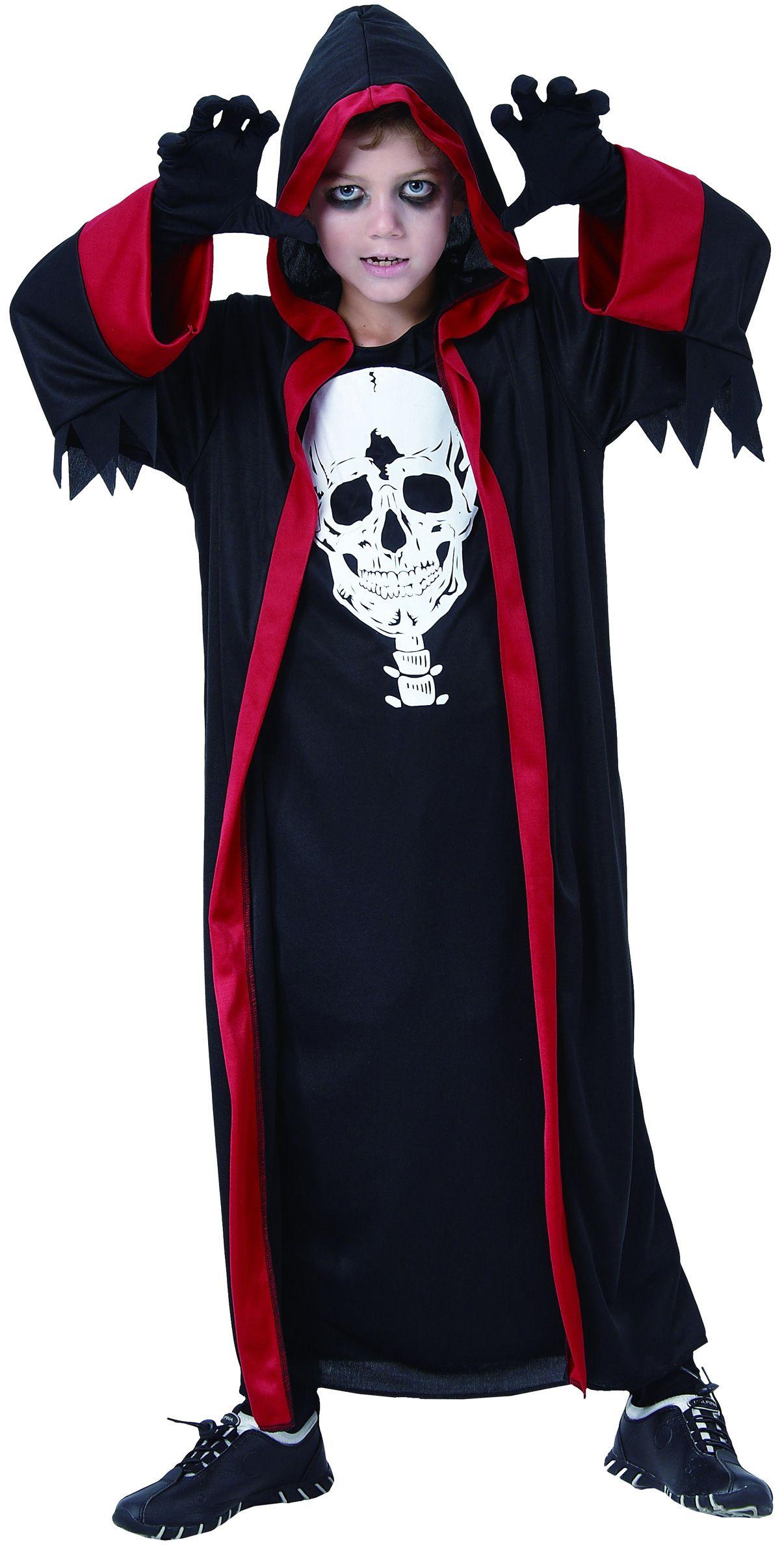 Halloween verkleedkostuum voor jongens. Pietje de dood