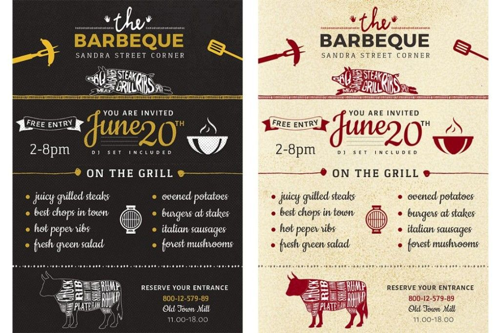 Grill Bbq Cookout Flyer Template By Wg-Visualarts On