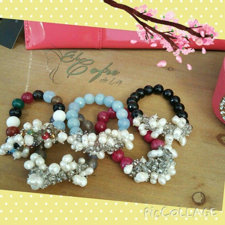 Hermosas pulseras Savvy Cie en ágatas, perlas y swarovski. Varios colores a escoger.    Visítanos hoy en Cabo Rojo, P.R.  787-464-4132  www.facebook.com/elcofredeliz