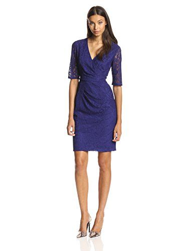 Adrianna Papell Women's Pleats Detail Wrap Dress at Amazon ...