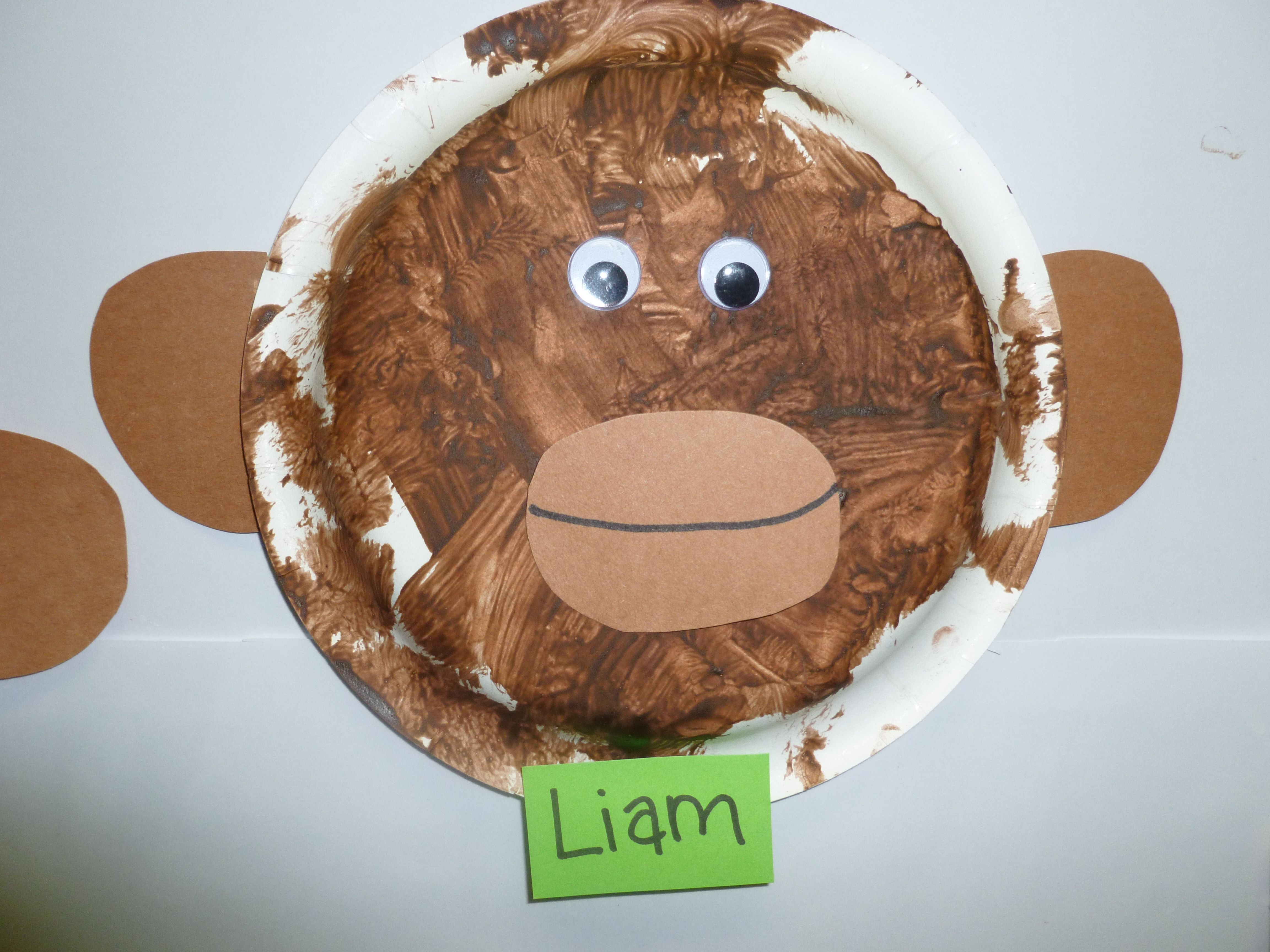 Paper plate monkey | Preschool crafts, Projects for kids ...
