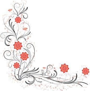 How To Design Flower Corner Wedding Invitations Borders