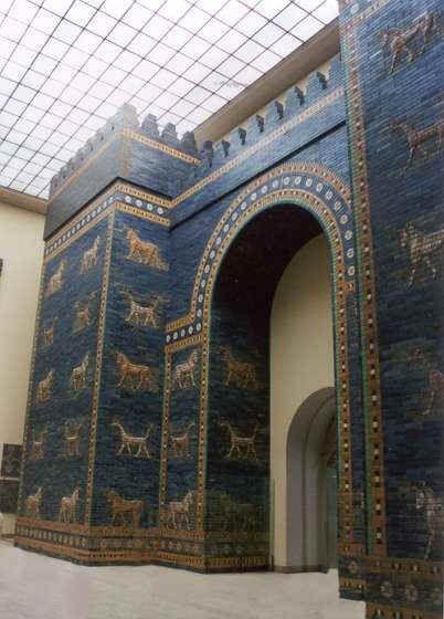La Porte D Ishtar A Babylone La Porte D Ishtar Est Une Des Huit Portes De La Cite Interieure De Babylone Elle Fut Construite Babylone Millenaire Archeologie