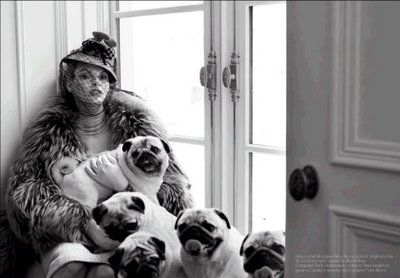 Pugs and Linda Evangelista