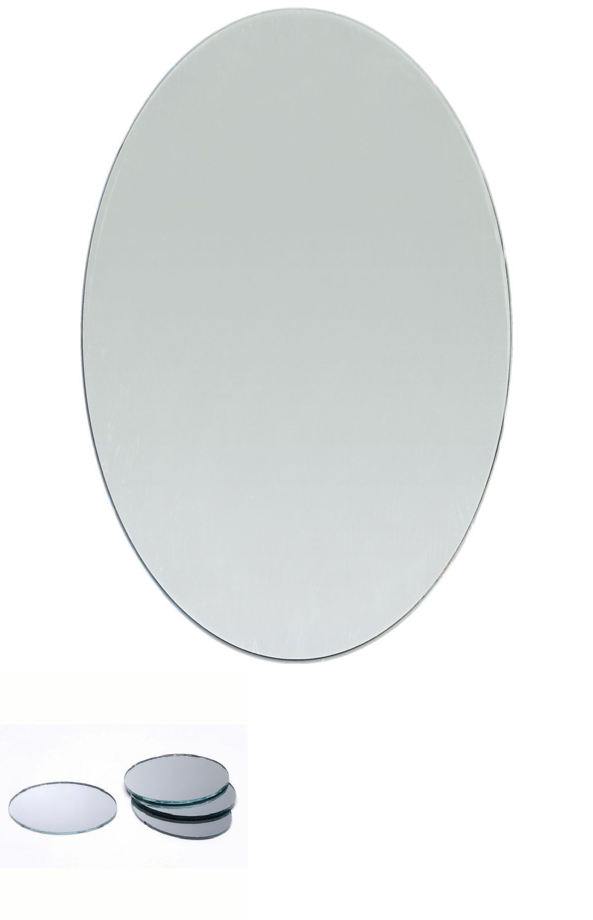 4 X 6 Inch Glass Craft Small Oval Mirrors Bulk 12 Pieces Mosaic Mirror Tiles 607963370470 Ebay Mosaic Tile Mirror Mirror Tiles Oval Mirror