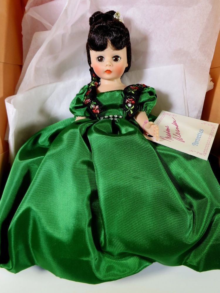 Madame Alexander Portrettes Green Colleen Dress Good Condition
