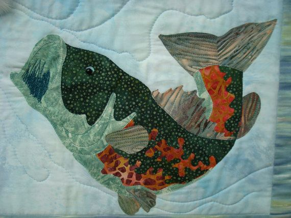 Bass Fish Wallhanging …   quilt paper piece ing   Fish …