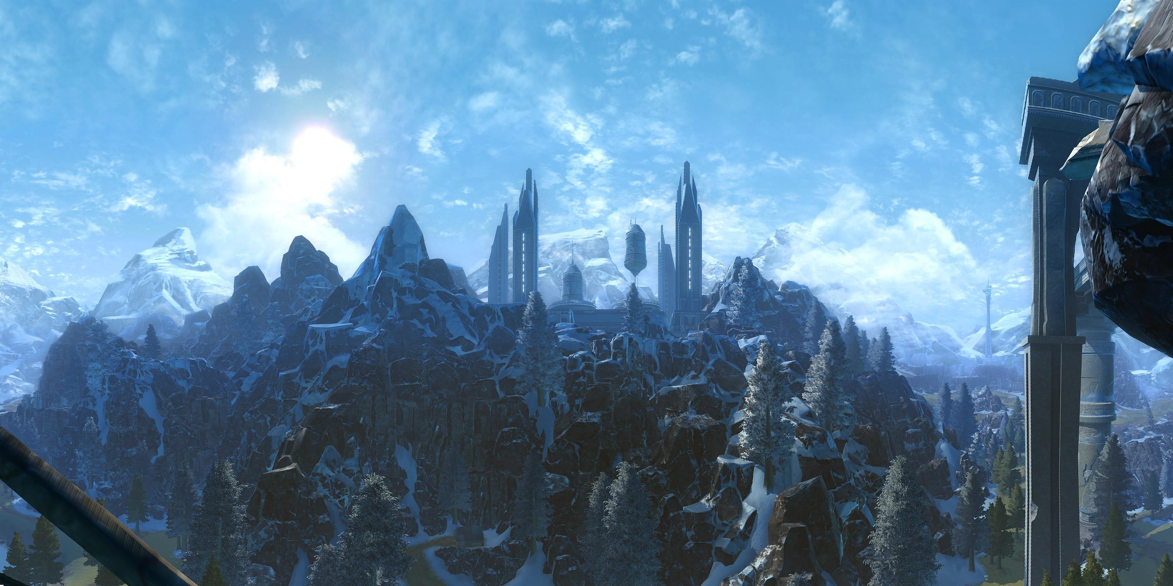 Winter starwars landscape recherche google starwars - Paysage star wars ...