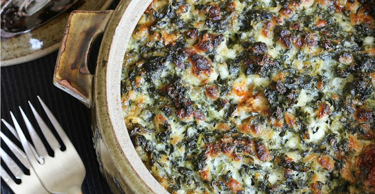 If you don't already, you'll learn to love spinach in this savory, creamy dish…