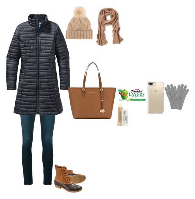 """Snow day"" by tcolasante on Polyvore featuring Frame, Patagonia, L.L.Bean, MICHAEL Michael Kors, L.K.Bennett, Banana Republic, Loro Piana, Speck and Kiehl's"