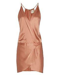 Michelle Mason EXCLUSIVE Cami Wrap Mini Dress