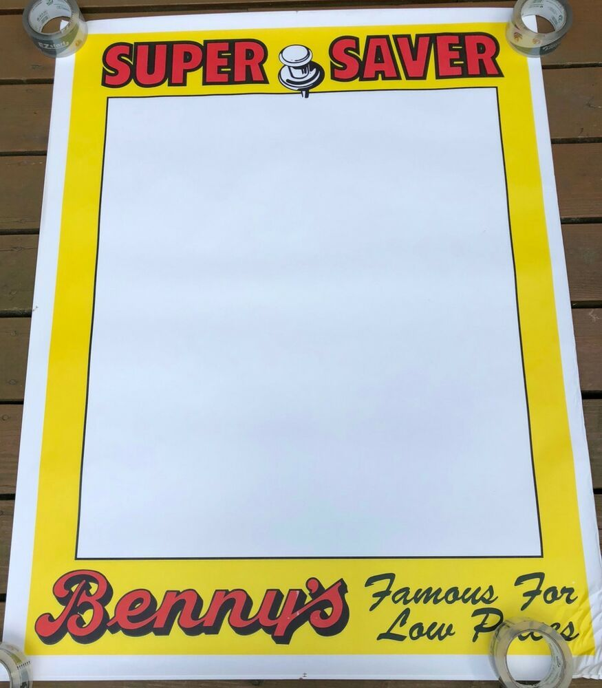 Benny S Store Sign Super Saver Paper Advertisement Rhode Island