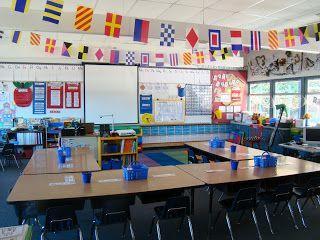 Sailing Through 1st Grade: Classroom Tour Linky Party