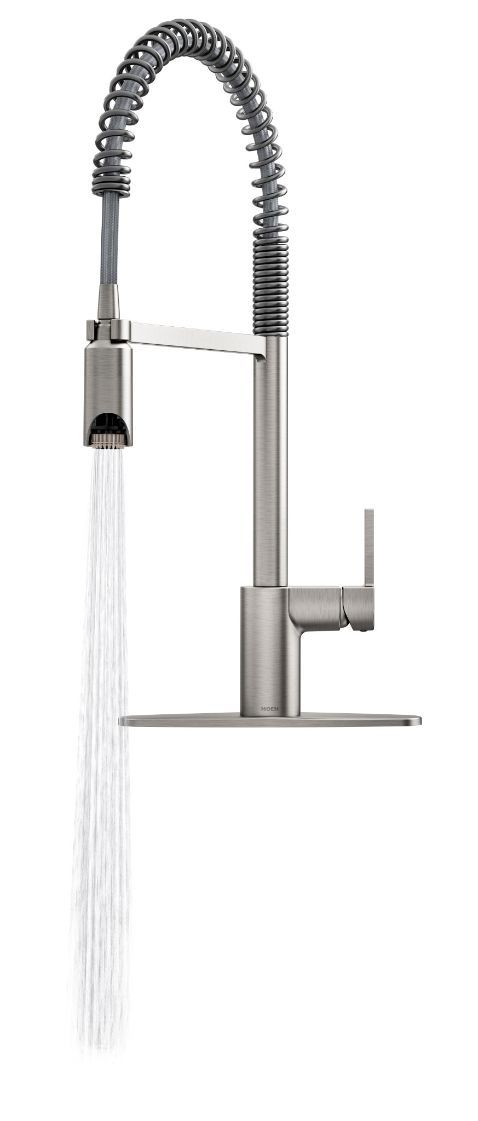 Align Spot Resist Stainless One Handle Pre Rinse Spring Pulldown