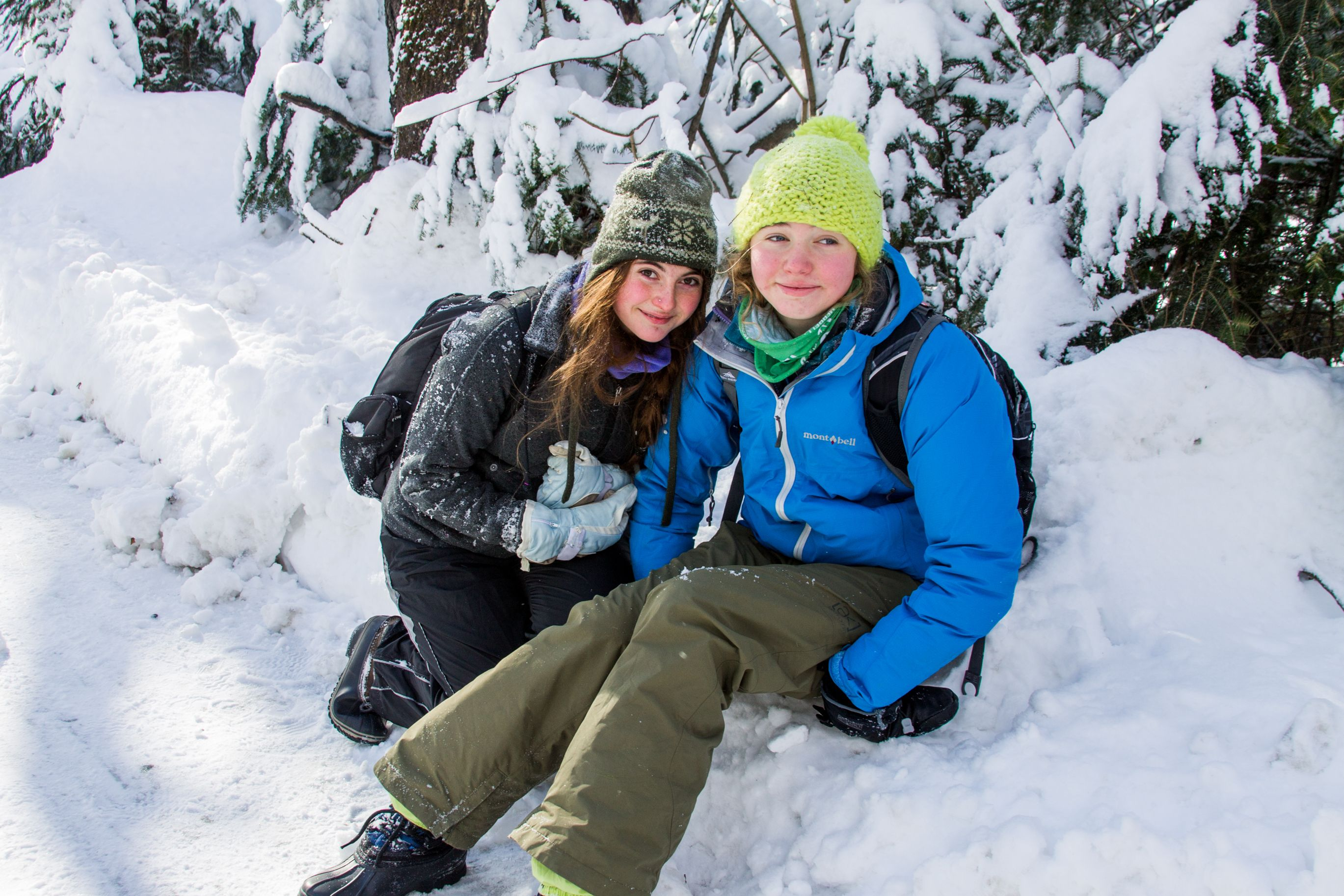 VCS students enjoying a winter hike, mid January 2015!