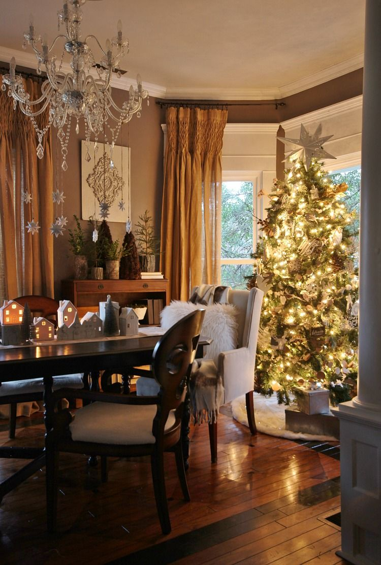 christmas dining room curtains
