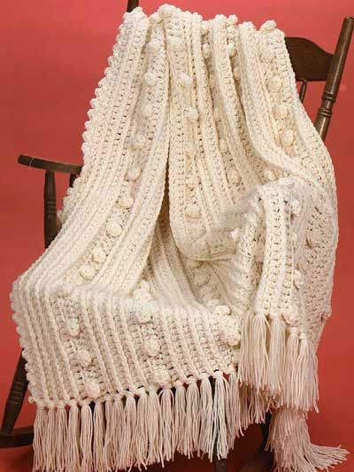 The Double-Quick Aran Afghan is a chunky and cozy afghan pattern ...